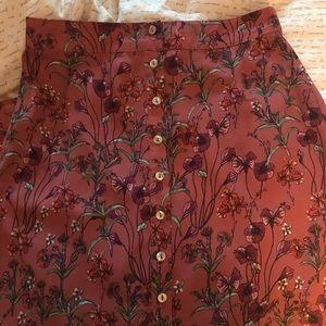 NWOT Long Button Down Skirt